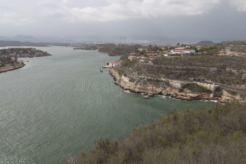 En sikt från Kuba för fortEl Morro arkivfoton