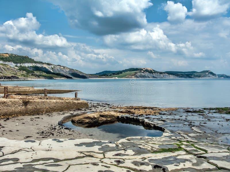 En sikt från Lyme Regis arkivfoto