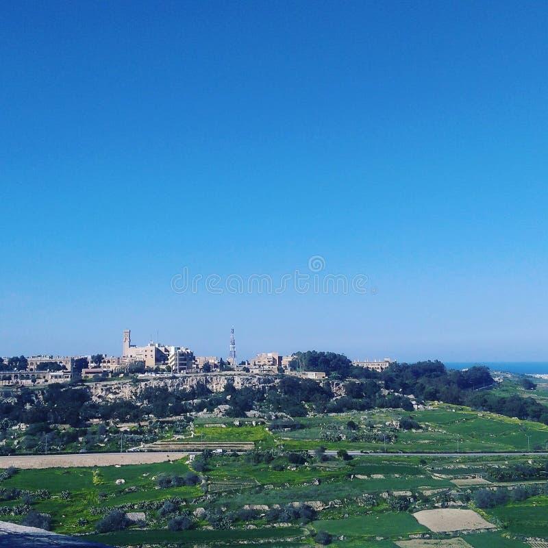 En sikt från Mdina royaltyfri fotografi