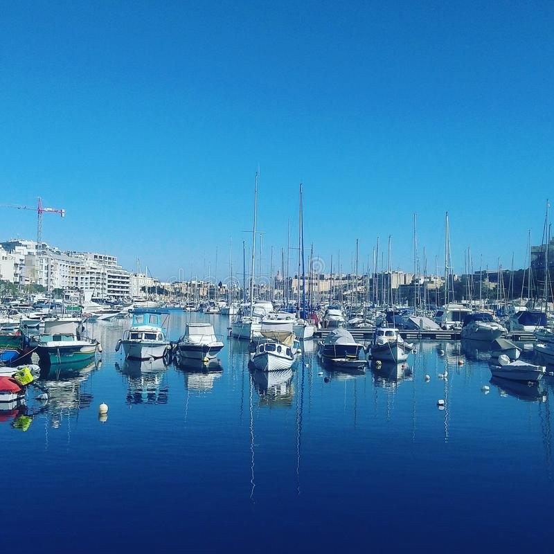 En sikt i Malta arkivbilder