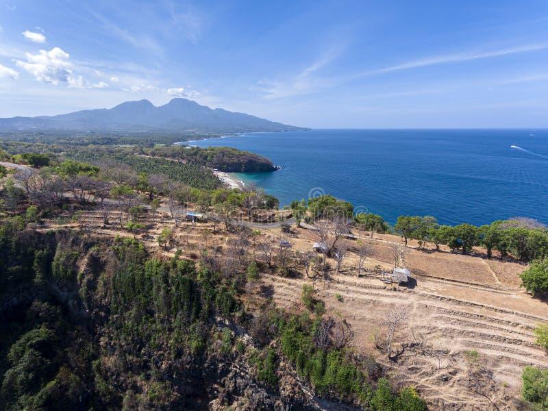 En sikt på Bukit Asah på den Bali ön, Indonesien royaltyfri foto