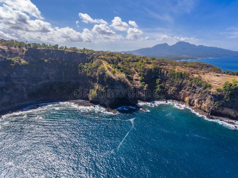 En sikt p? Bukit Asah p? den Bali ?n, Indonesien arkivfoto