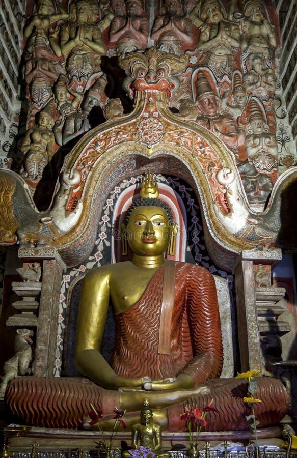 En sittande Buddhastaty i Sri Lanka royaltyfri bild