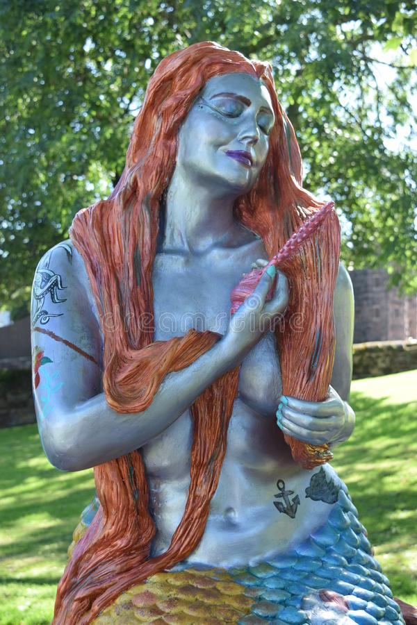 En sjöjungfru i newbrighton royaltyfri fotografi