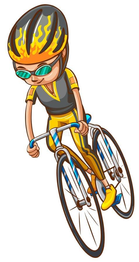 En skissa av en cyklist royaltyfri illustrationer
