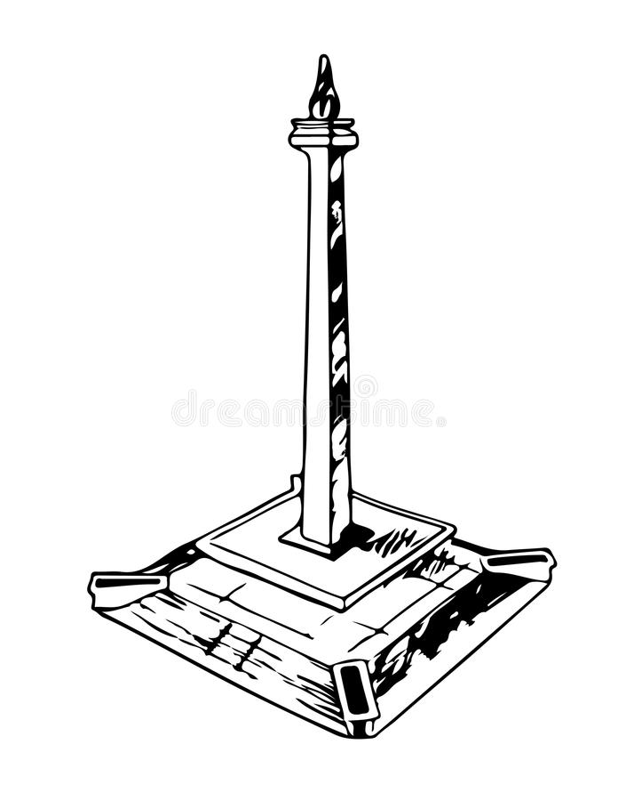 Download En Skissa Av Monumen Nasional Eller Monas I Jakarta, Indonesien Vektor Illustrationer - Illustration av tecken, illustration: 78730532