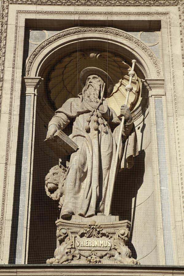 Specificera av den St Stephen basilicaen, Budapest, Ungern arkivbilder