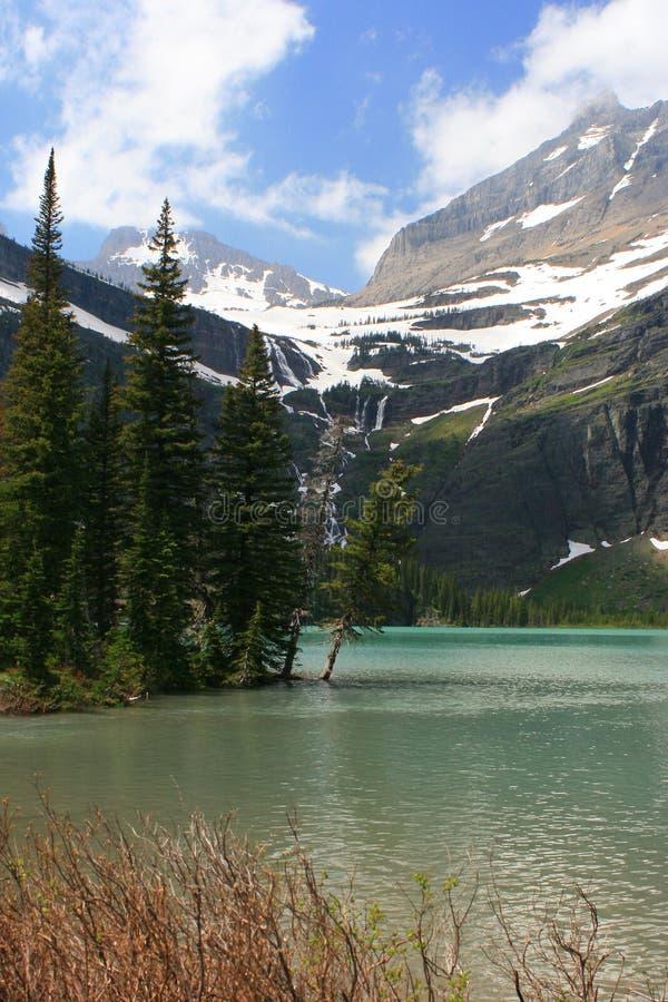 Grinnell Lake i glaciärnationalpark royaltyfria bilder