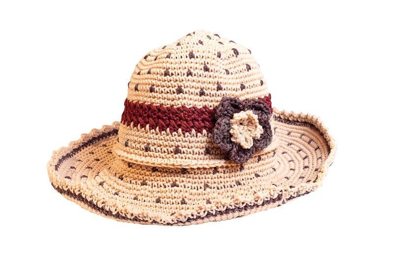 Sätta på land hatten som isoleras på vitbakgrund med den snabba banan. arkivfoto