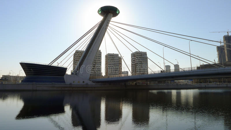 En special bro i den Tianjin staden royaltyfria foton