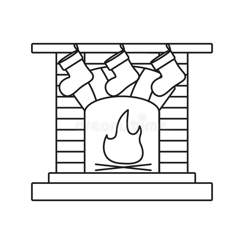 En spis en härd en lampglas symboler för en spiselkrans stock illustrationer