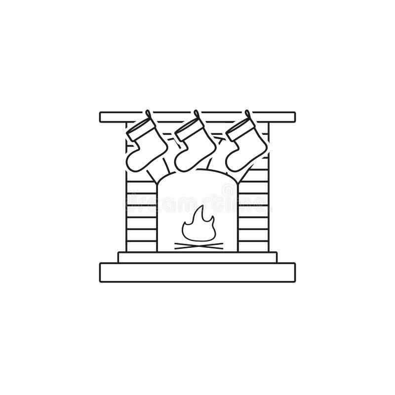 En spis en härd en lampglas symboler för en spiselkrans royaltyfri illustrationer