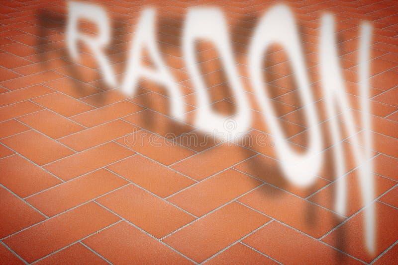 En sprucken trottoar med radongas som flyr - begreppsbild med kopieringsutrymme stock illustrationer
