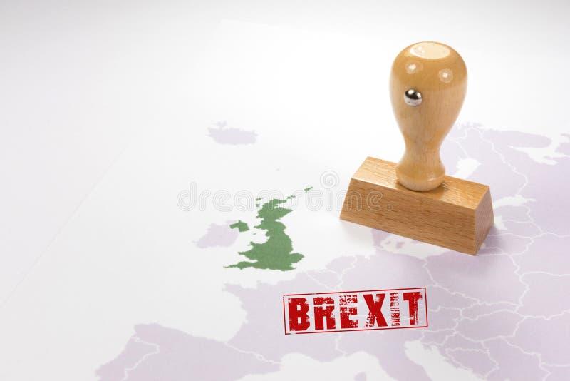 En stämpel för Brexiten royaltyfri fotografi