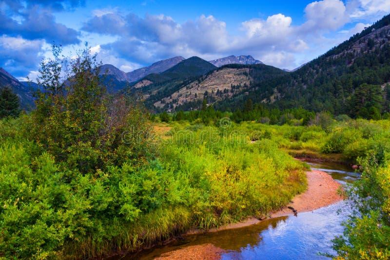 En stående av Rocky Mountain National Park royaltyfri fotografi