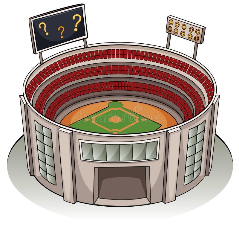 En stadion stock illustrationer