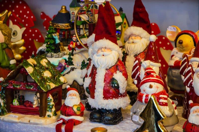En stass av jul claus santa royaltyfria bilder