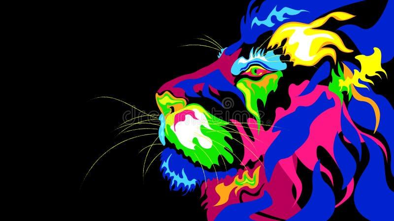 En stiliserad abstraktion av ett lejon fotografering för bildbyråer