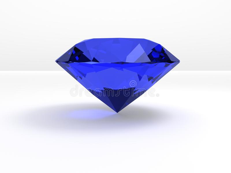 en stor blå diamant royaltyfri illustrationer