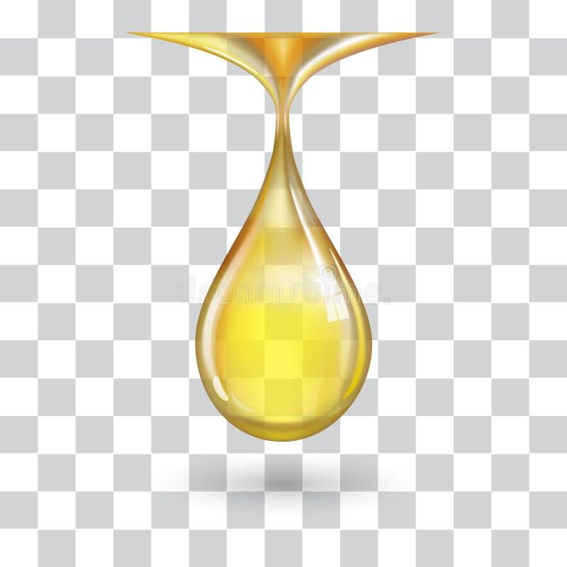 En stor gul droppe royaltyfri illustrationer