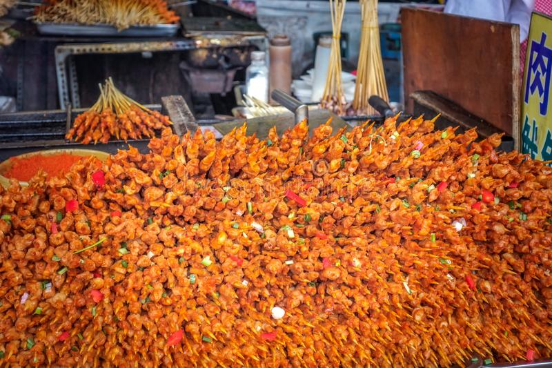 En stor kebab royaltyfri fotografi
