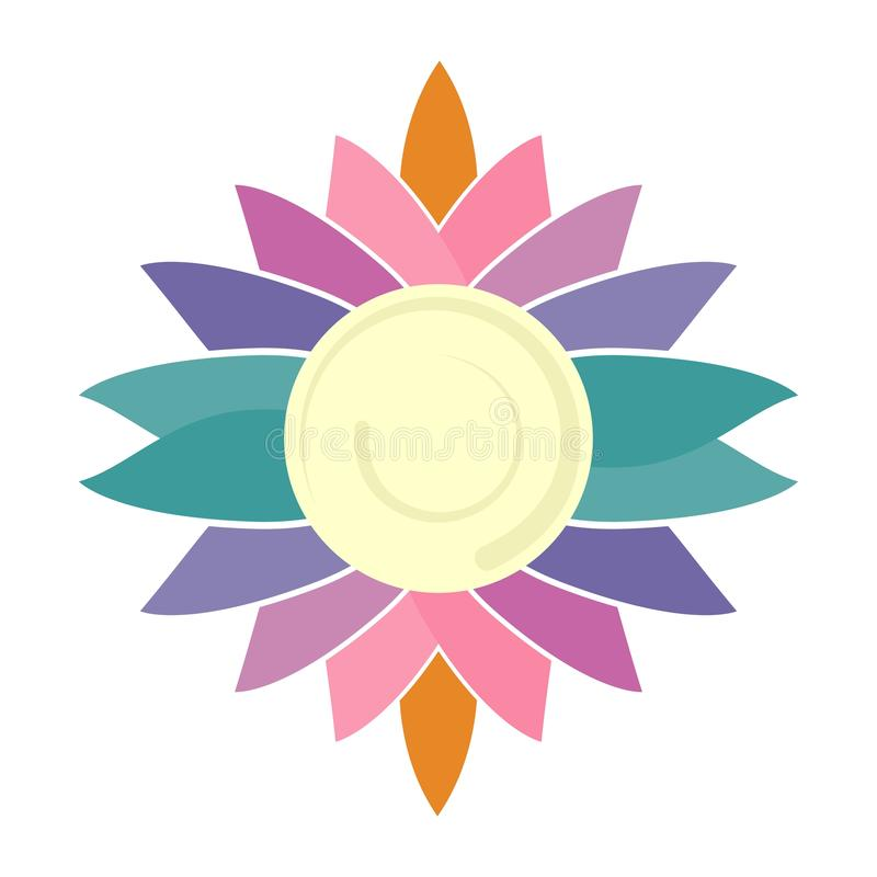 En stor logo för företaget Logoen av kopplar av branscher, medititation, yoga och sporten arkivfoton