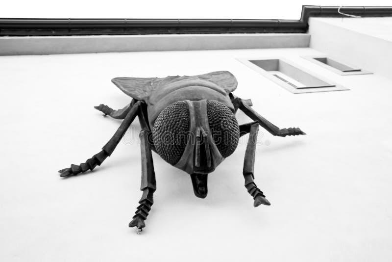 En stor staty av flugan fotografering för bildbyråer