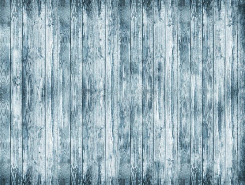 En stor träbakgrund En blå wood textur Gammal brädebackg arkivbild