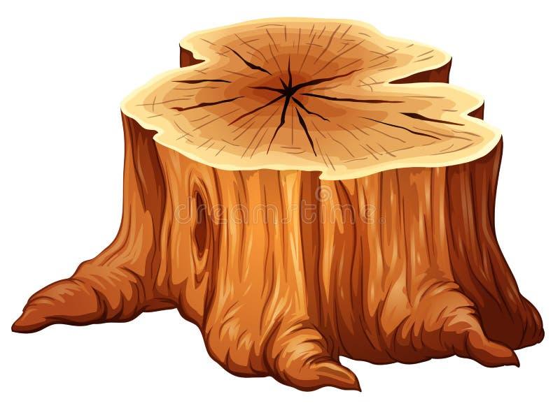 En stor trädstubbe royaltyfri illustrationer