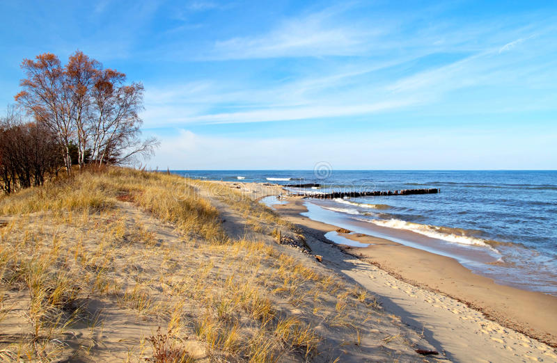 En strand som kallar mina egna royaltyfria bilder