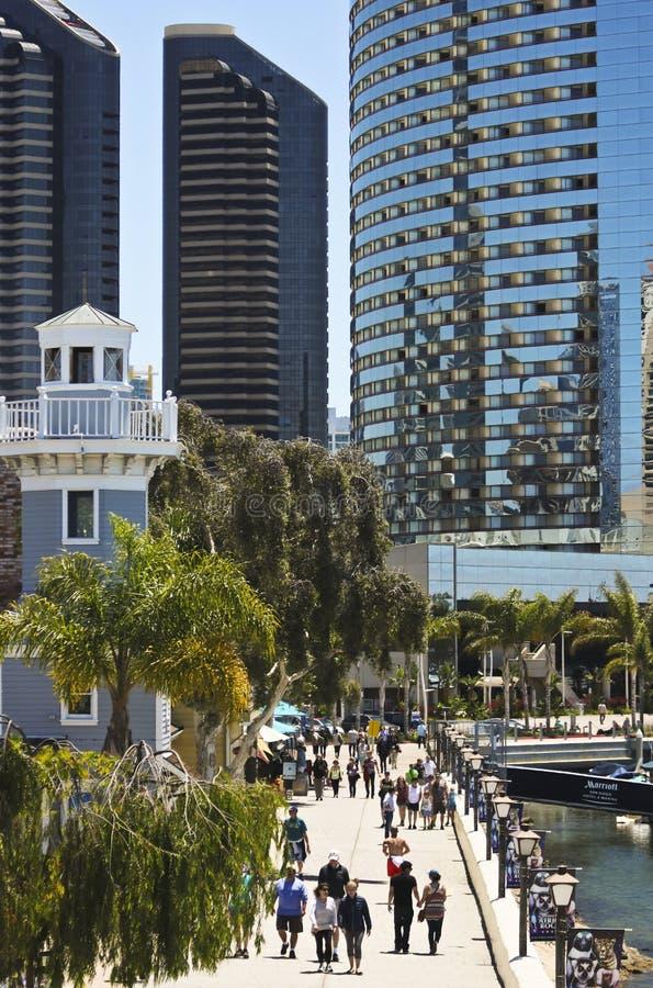 En Sunny Seaport Village i San Diego Shot fotografering för bildbyråer