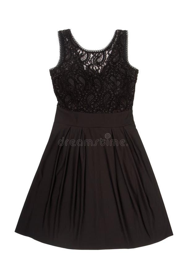 En svart aftonklänning royaltyfri fotografi