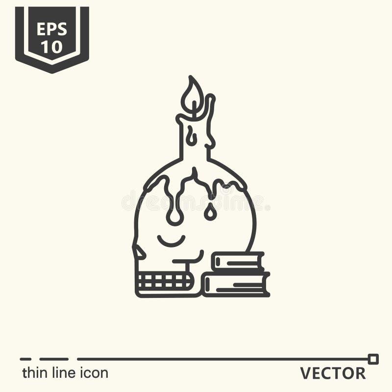 En symbol - ljusstake stock illustrationer