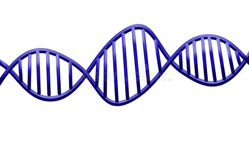 En-tête abstrait de structure d'acide désoxyribonucléique d'ADN illustration libre de droits