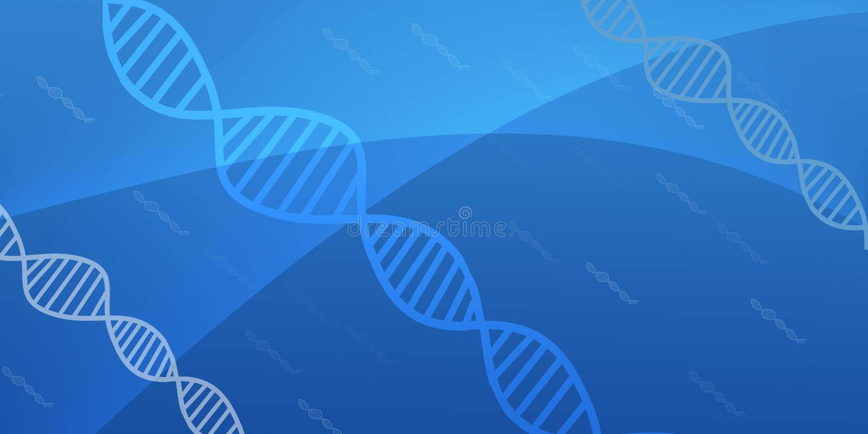 En-tête abstrait de structure d'acide désoxyribonucléique d'ADN illustration stock