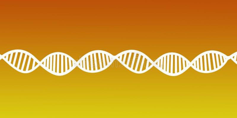En-tête abstrait de structure d'acide désoxyribonucléique d'ADN illustration de vecteur