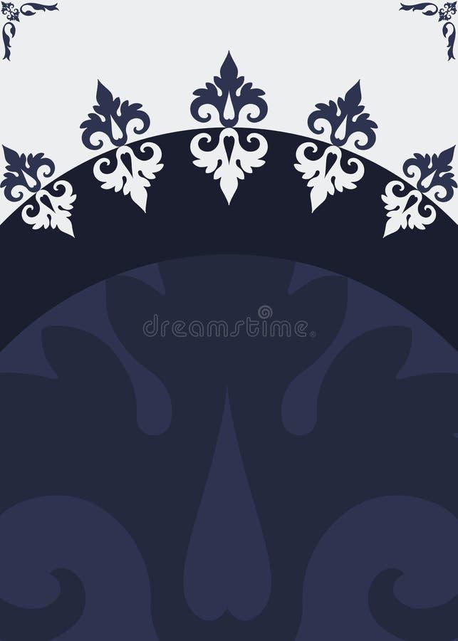 En-tête bleu argenté d'affiche illustration de vecteur