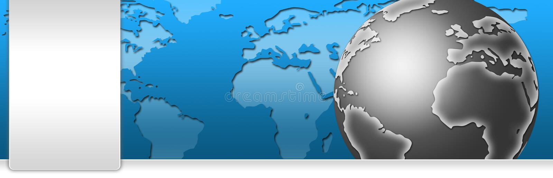 En-tête de drapeau d'affaires et de technologie illustration libre de droits