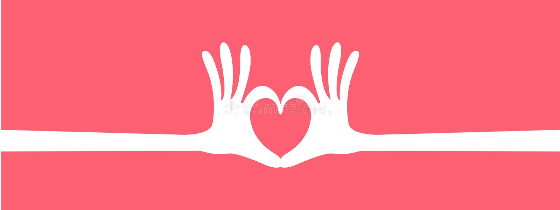 En-tête de geste de coeur de main illustration stock