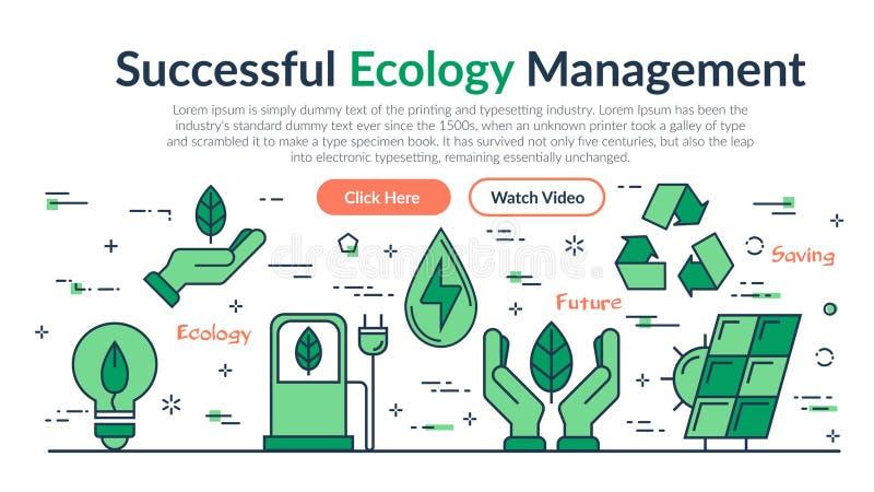 En-tête de site Web - bonne gestion d'écologie illustration de vecteur