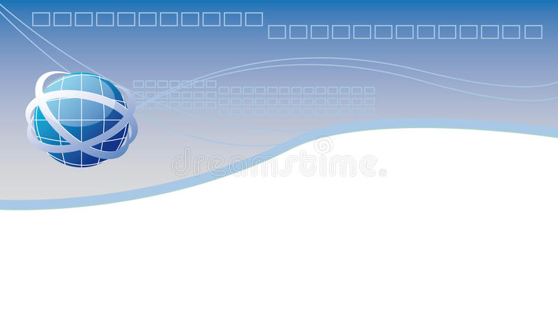 En-tête de Web illustration stock