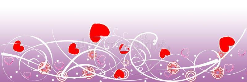 En-tête de Web de jour de Valentine illustration stock