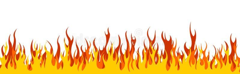 En-tête/drapeau de Web d'incendie illustration de vecteur