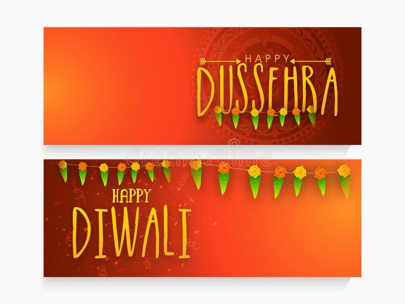 En-tête ou bannière de Web pour Dussehra et Diwali