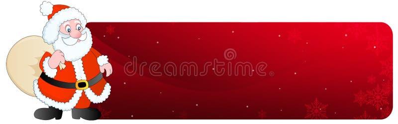 en-tête Santa de Noël de drapeau illustration de vecteur