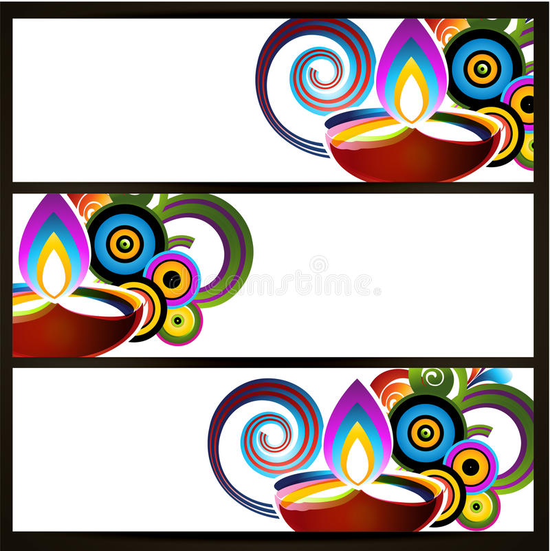 En-têtes abstraits de diwali