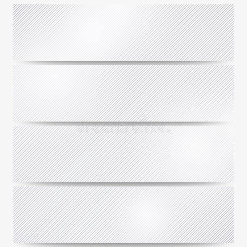 En-têtes abstraits réglés, répétition diagonale droite illustration stock