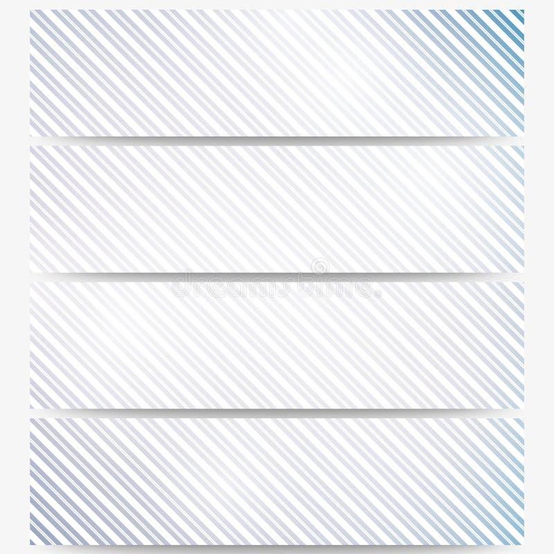 En-têtes abstraits réglés, répétition diagonale droite illustration libre de droits