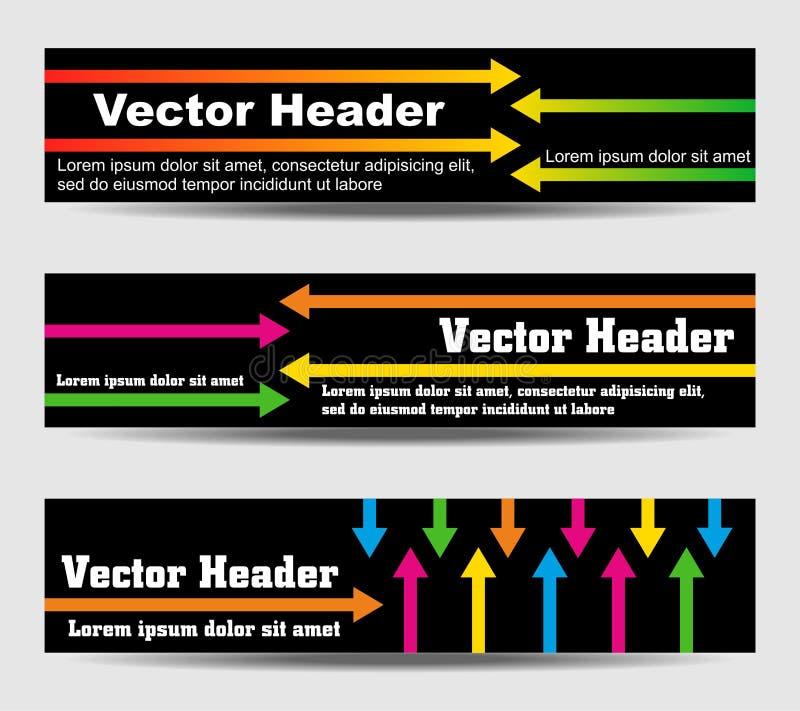 En-têtes avec les flèches et le texte illustration de vecteur