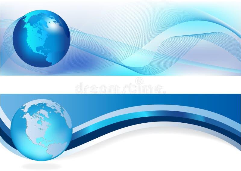 En-têtes bleus illustration libre de droits